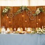 ścianka za parą młodą na sali weselnej